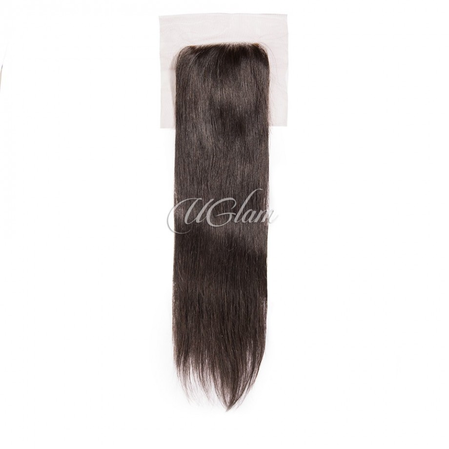 Uglam Hair 4x4 Swiss Lace Closure Malaysian Straight