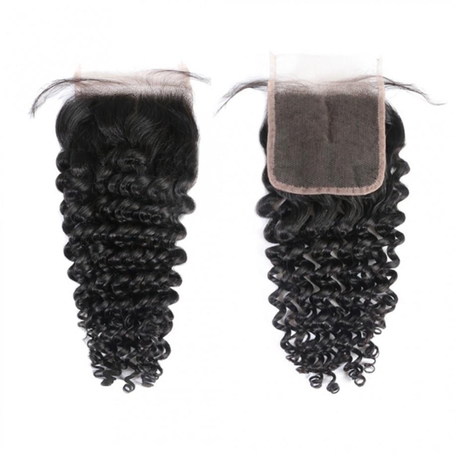 Uglam Hair 5X5 Transparent Lace Closure Deep Wave Sexy Formula