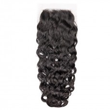 Uglam 4x4  Lace Closure Brazilian Water Wave