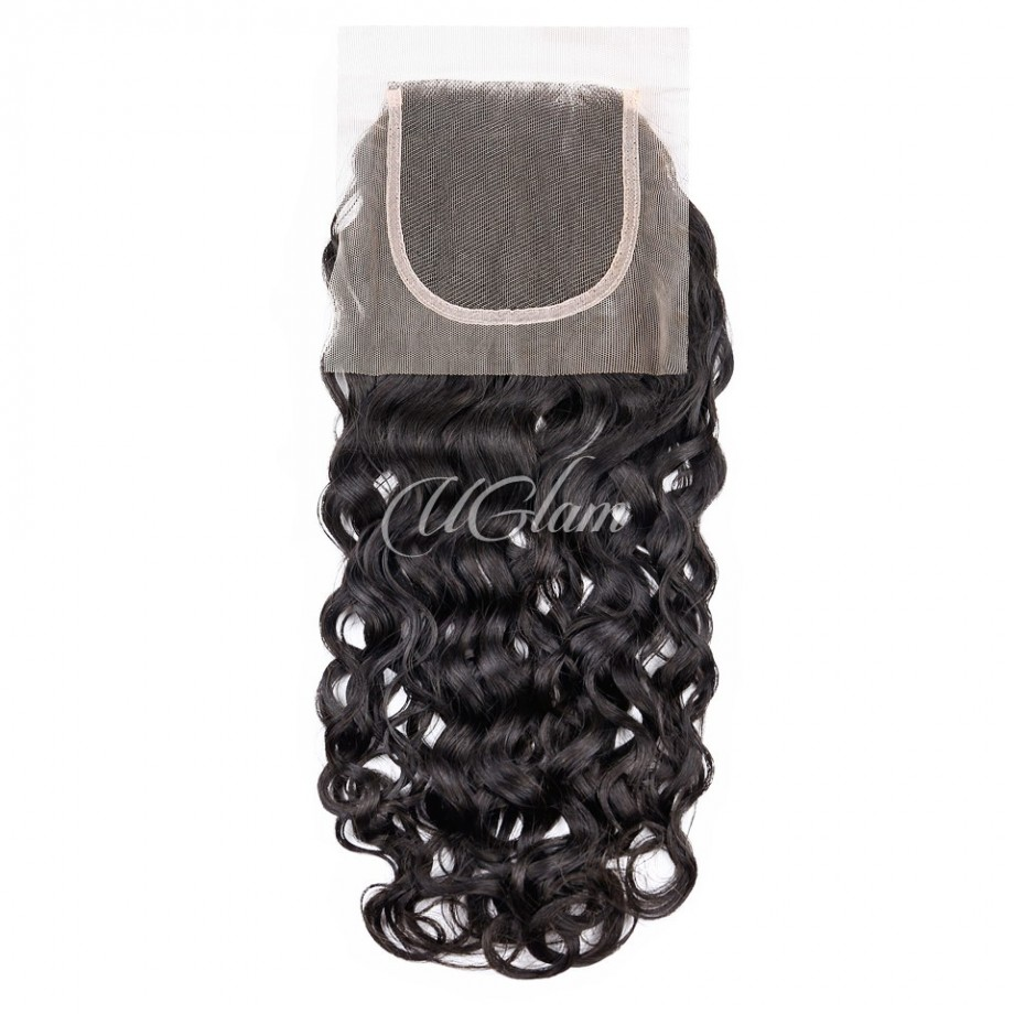 Uglam Hair 4x4 Swiss Lace Closure Indian Water Wave