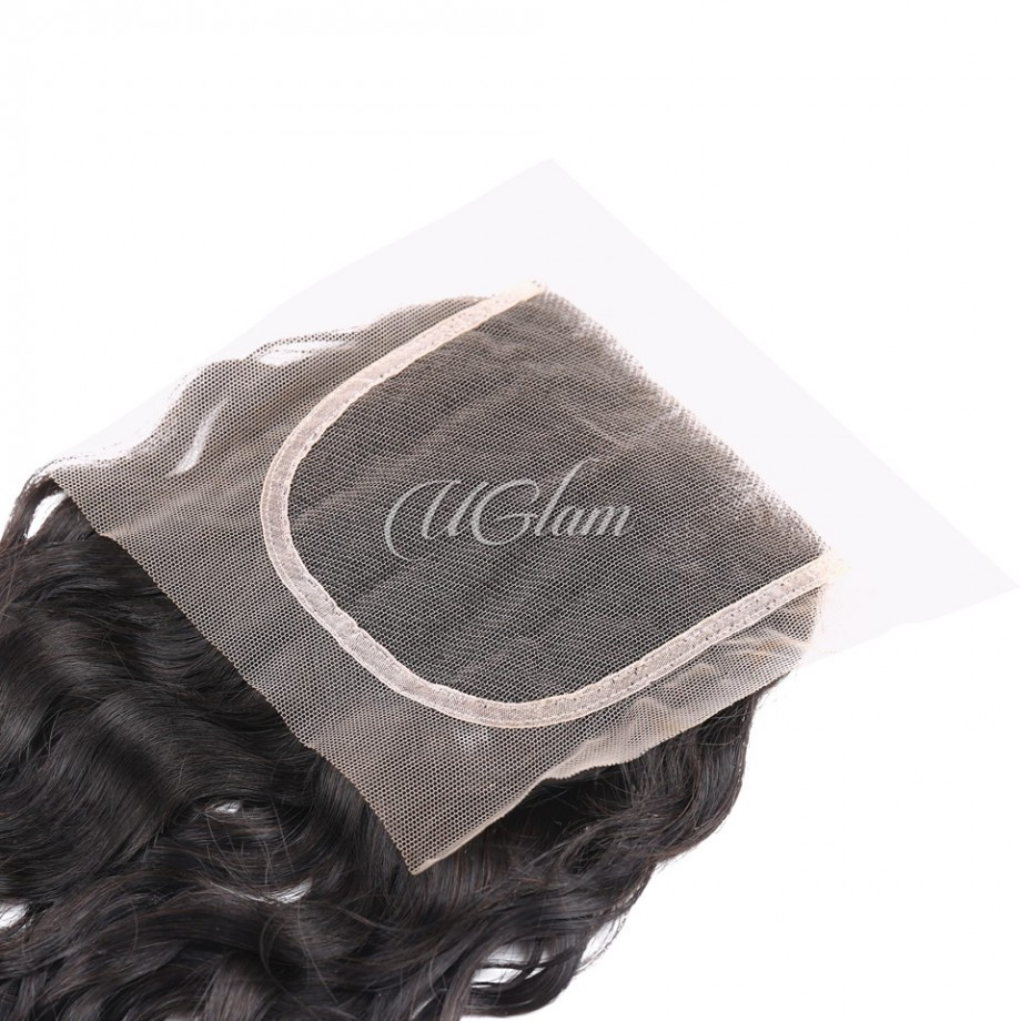 Uglam Hair 4x4 Swiss Lace Closure Brazilian Water Wave