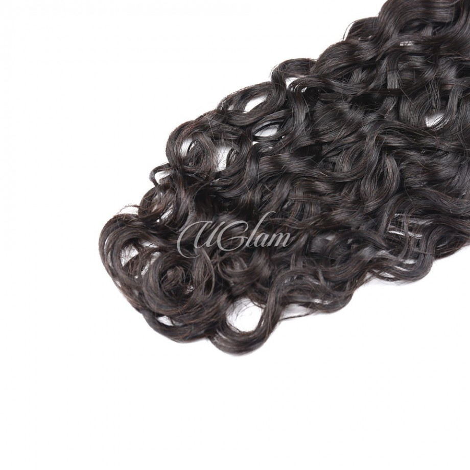 Uglam Hair 4x4  Swiss Lace Closure Peruvian Water Wave
