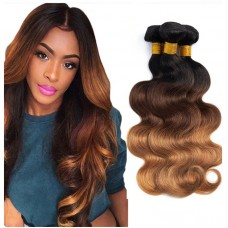 T1B/4/30 Ombre Hair Bundles Virgin Body Wave Hair Weave