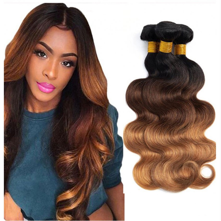 T1B/4/30 Ombre Hair Bundles Virgin Body Wave Hair Weave
