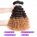 T1B/4/30 Ombre Hair Bundles Virgin Deep Wave Hair