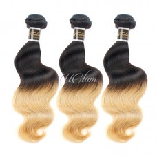Uglam Hair Ombre Hair Black And Blonde #613 Color Body Wave Bundles Deal