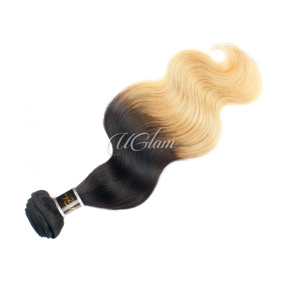 Uglam Ombre Hair Black And Blonde #613 Color Body Wave Bundles Deal