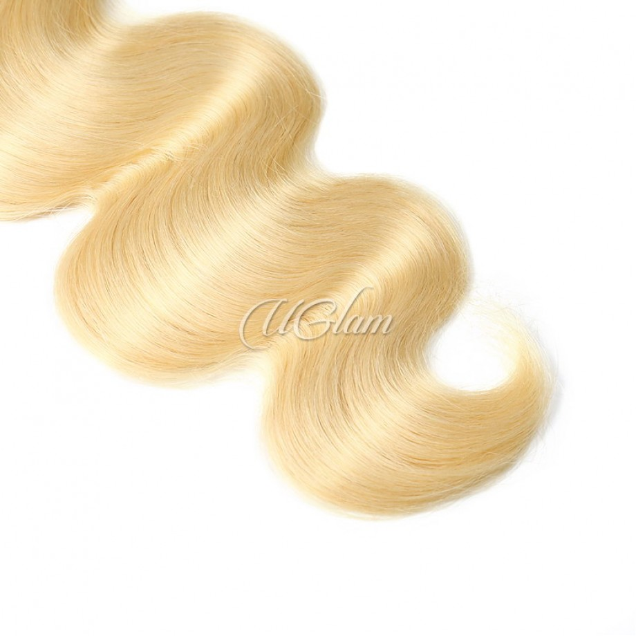 Uglam Hair Honey Blonde #613 Color Body Wave Bundles Deal