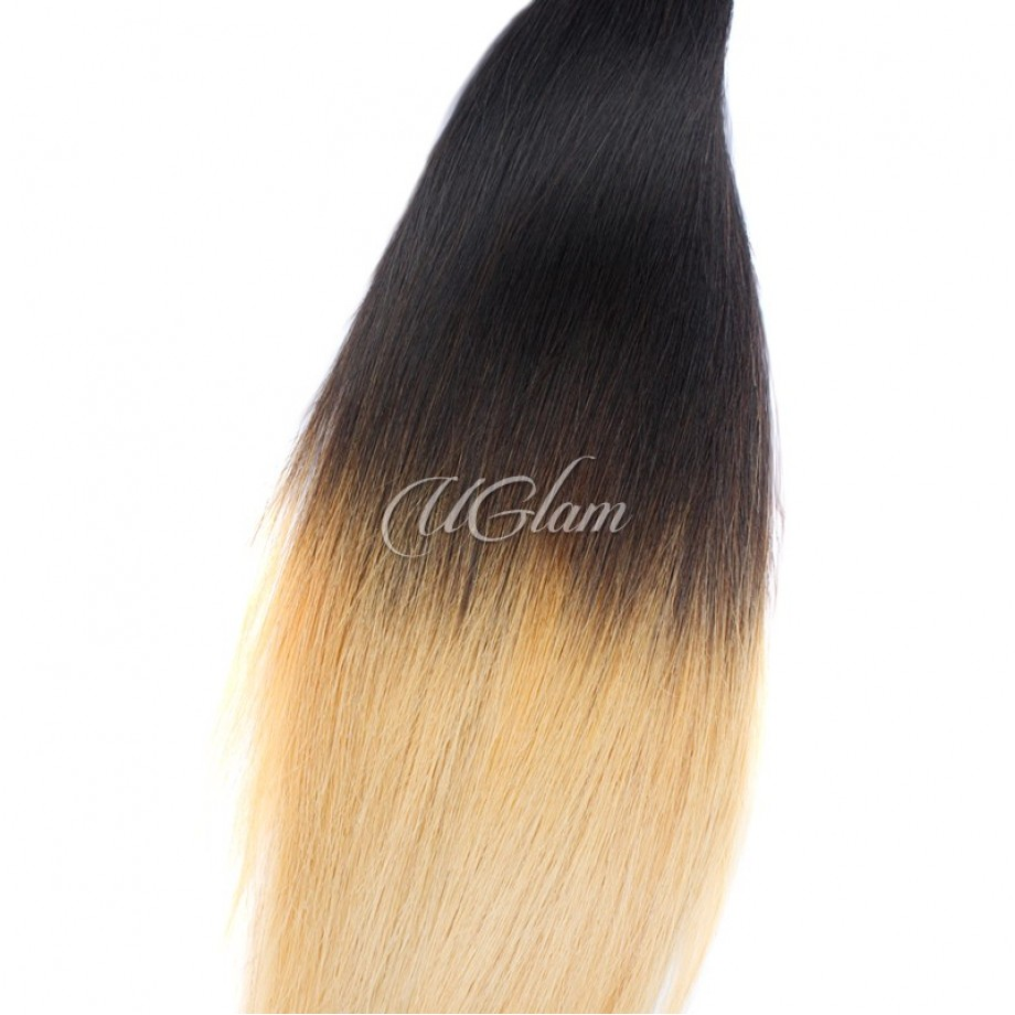 Uglam Hair Ombre Hair Black And Blonde #613 Color Straight Bundles Deal