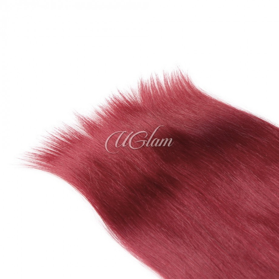 Uglam Hair Ombre Hair Black Root And Red Straight Bundles Deal