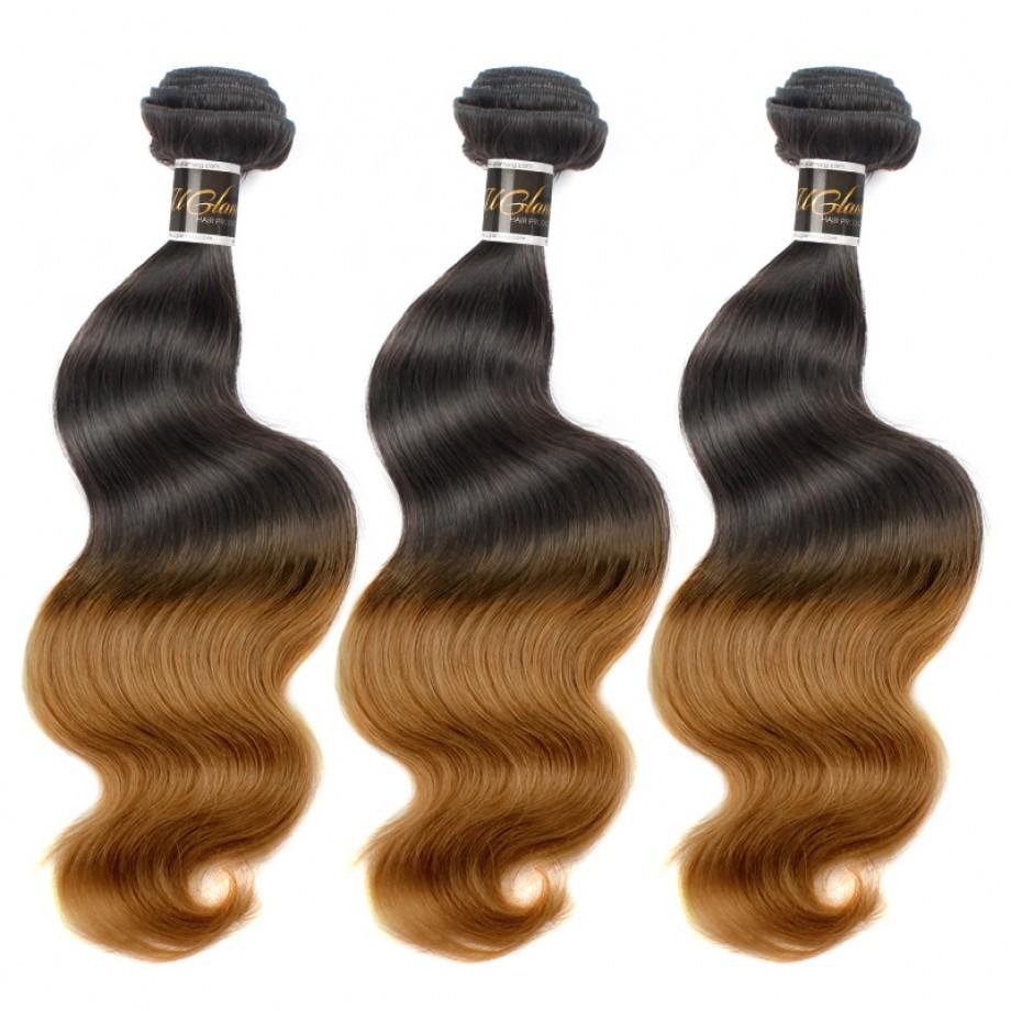 T1B/30 Ombre Hair Bundles Virgin Body Wave Hair Weave