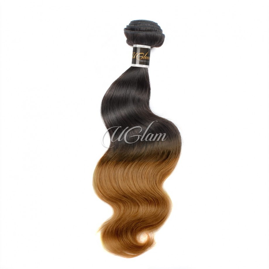 Uglam Hair Ombre Hair Black And Brown Color Body Wave Bundles Deal