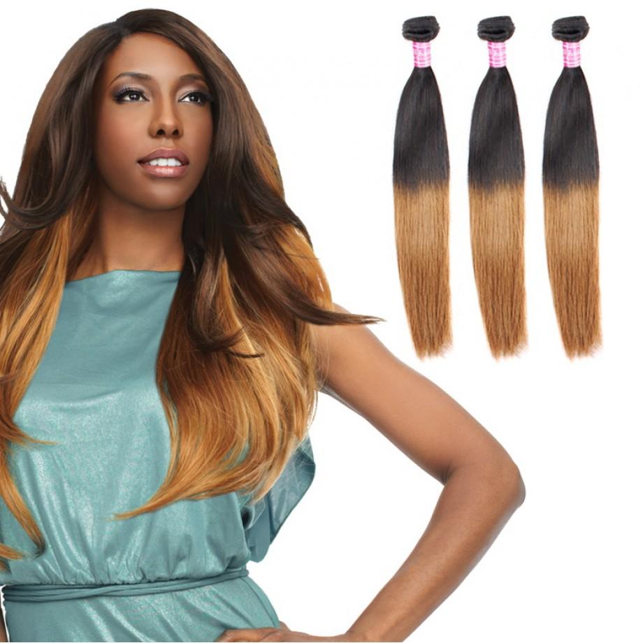 T1B/30 Ombre Hair Bundles Virgin Straight Hair Weave