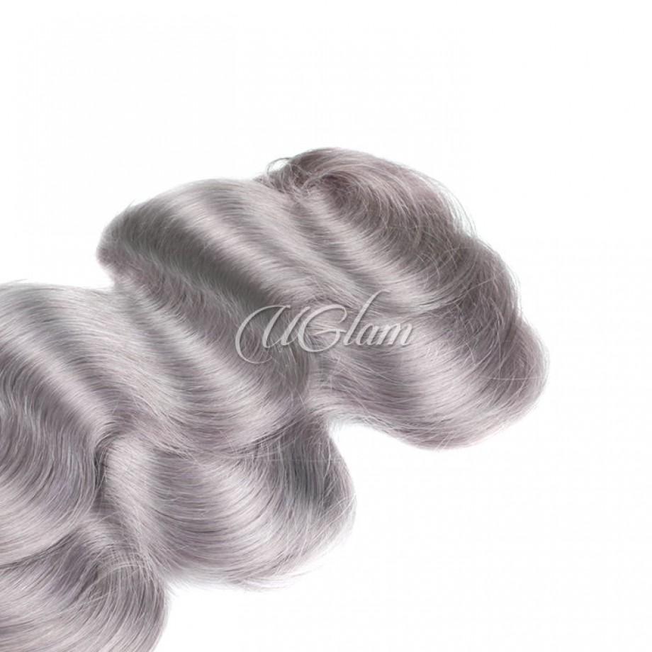 Uglam Ombre Hair Black Sliver Grey hair #88 Bundles Deal