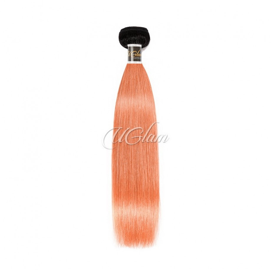 Uglam Hair 1B Yellow/Coral/Pink/Rosy/99J Straight Bundles Deal