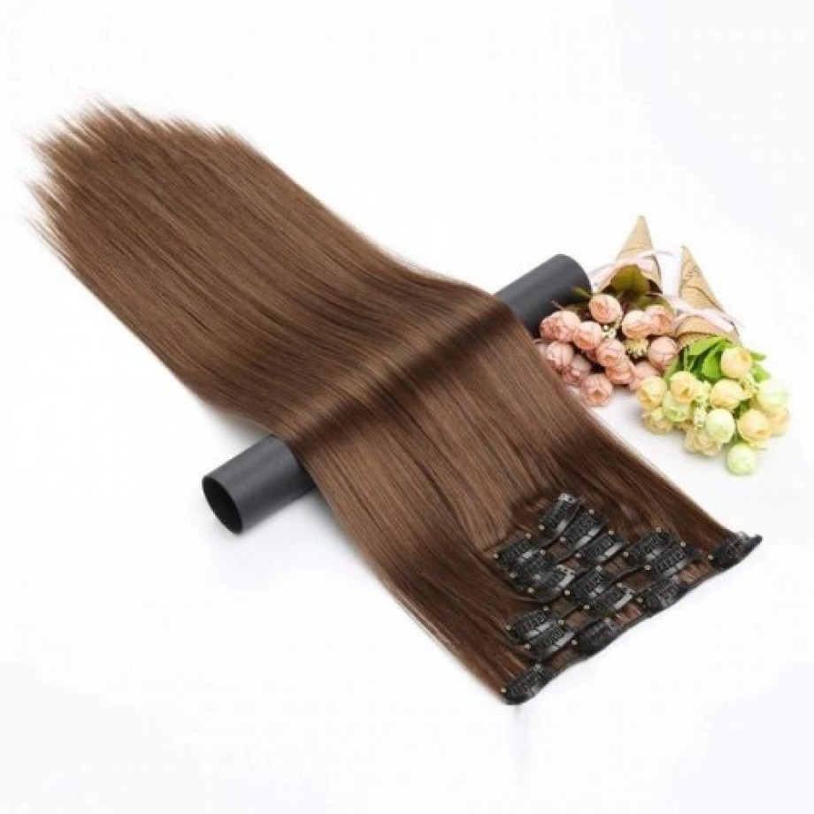 Uglam Clip in Hair Extensions Human Hair(7pcs/set)