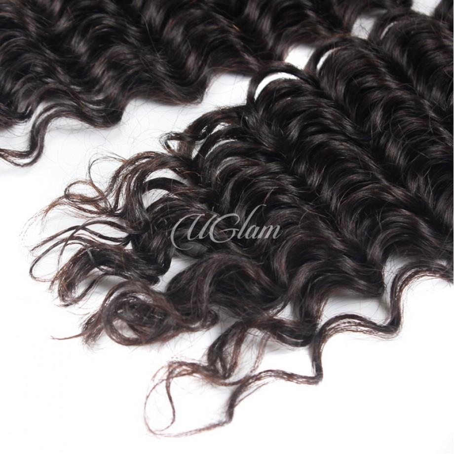 Uglam Hair Malaysian Deep Wave 3pcs/4pcs Bundles Deal