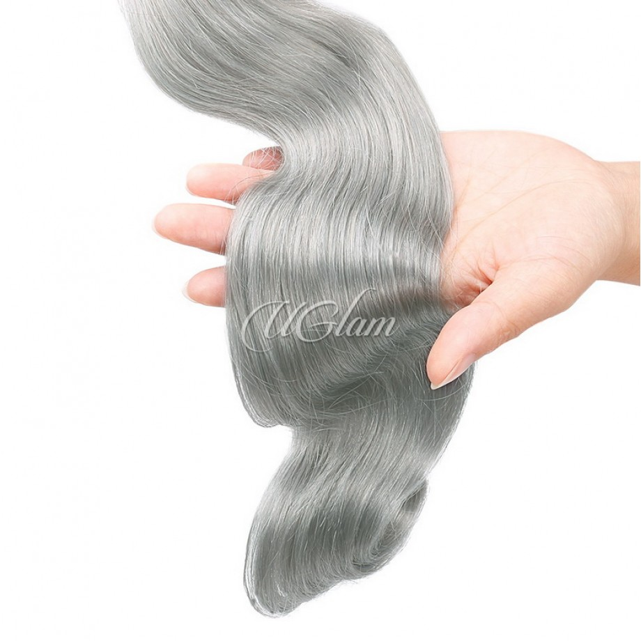 Uglam Green Gray Color Body Wave Bundles Deal