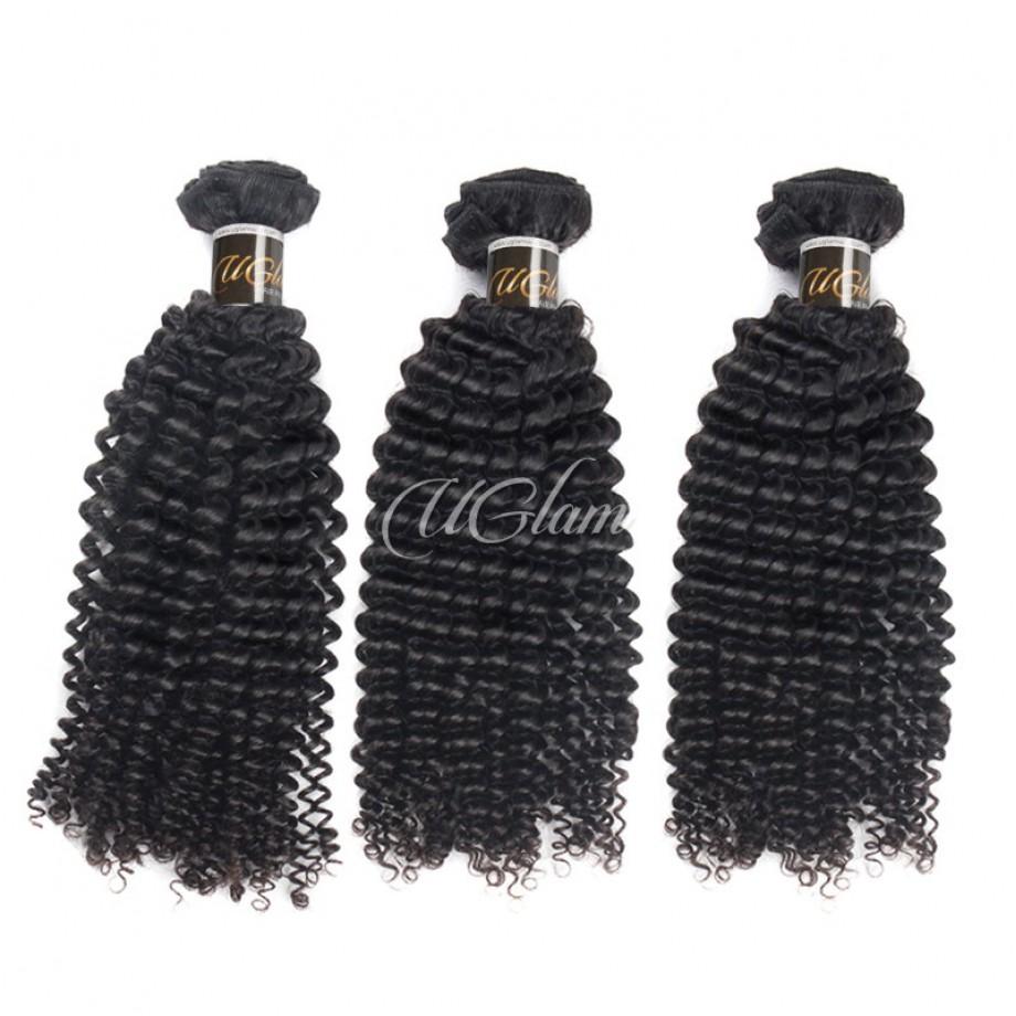 Uglam Hair Peruvian Kinky Curly 3pcs/4pcs Bundles Deal