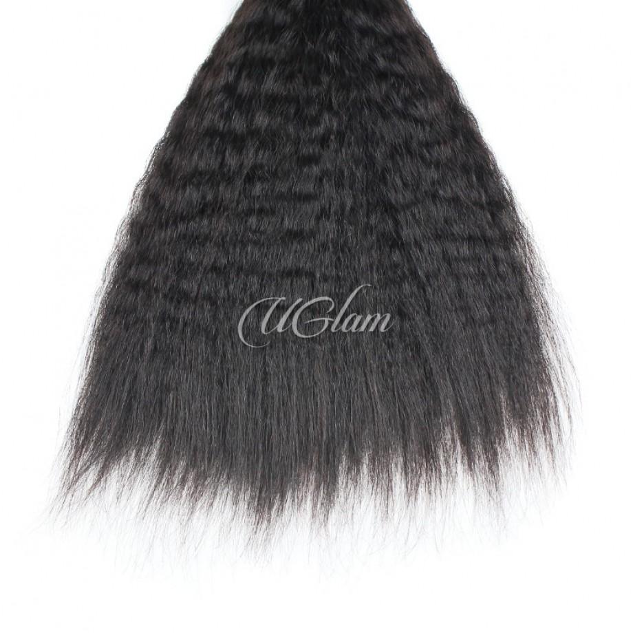 Uglam Remy Hair Malaysian Kinky Straight 3pcs/4pcs Bundles Deal