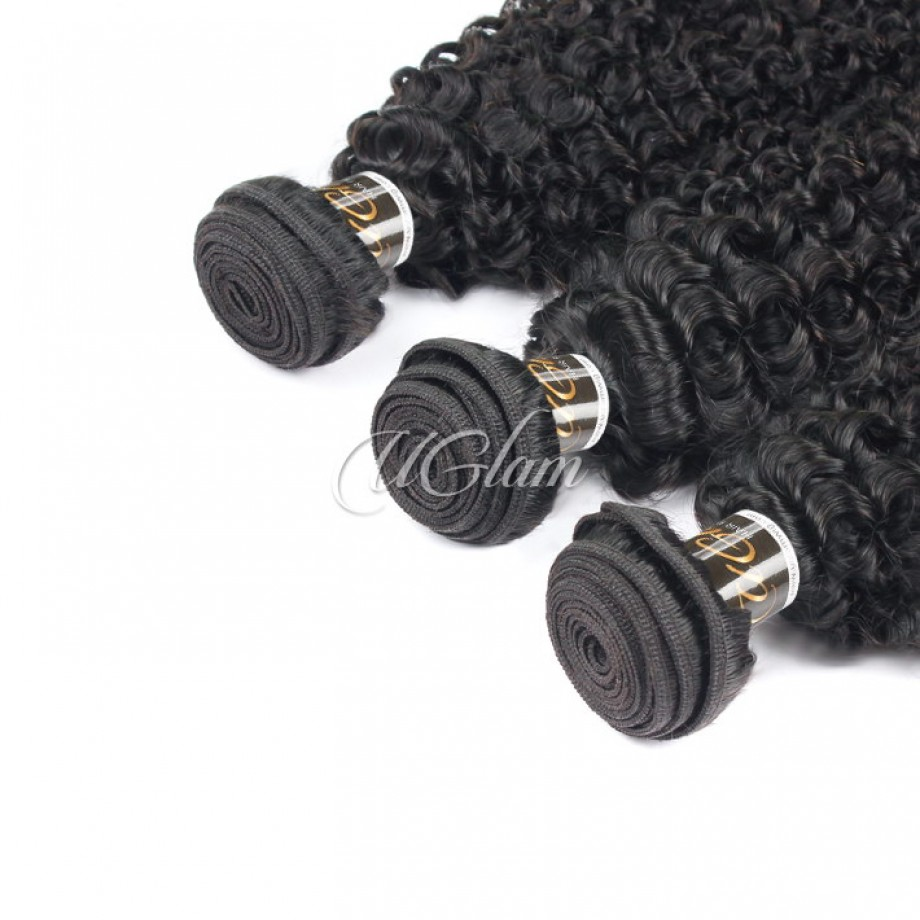 Uglam Hair Brazilian Kinky Curly 3pcs/4pcs Bundles Deal