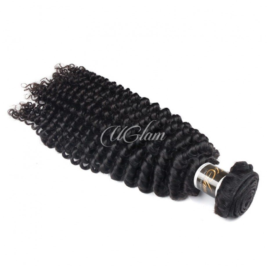 Uglam Hair Brazilian Kinky Curly 3pcs/4pcs Bundles Deal
