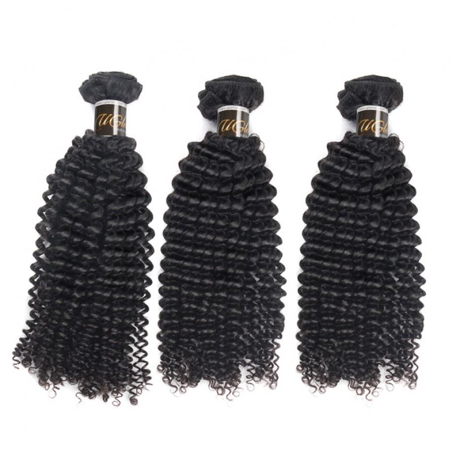 Uglam Virgin Hair Mongolian Kinky Curly 3pcs/4pcs Bundles Deal Sexy Formula