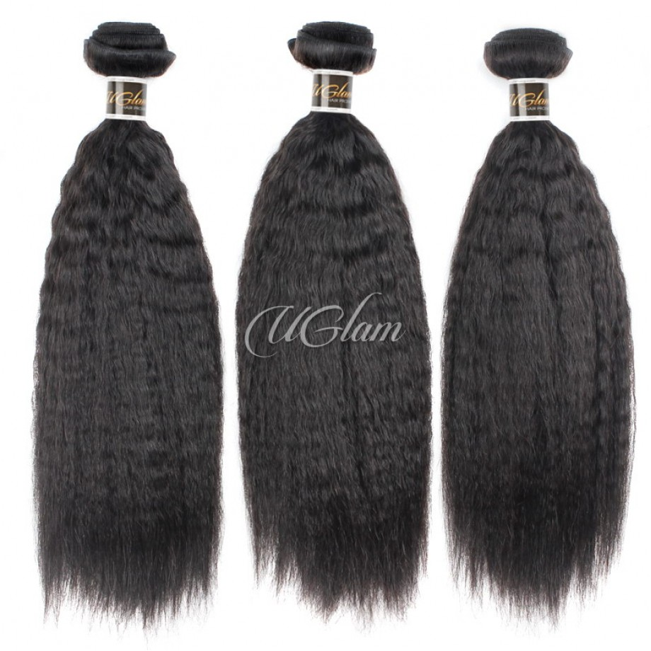 Uglam Virgin Hair Mongolian Kinky Straight 3pcs/4pcs Bundles Deal Sexy Formula