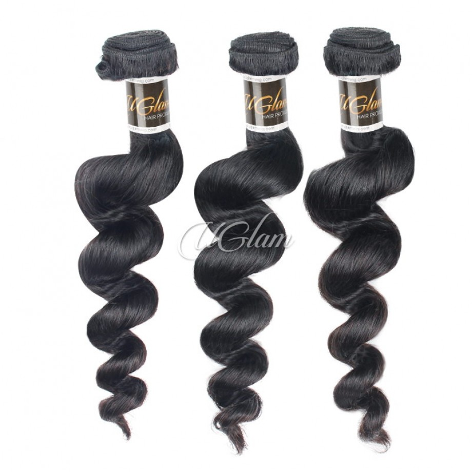 Uglam Hair 3/4pcs Bundles Brazilian Loose Wave Sexy Formula