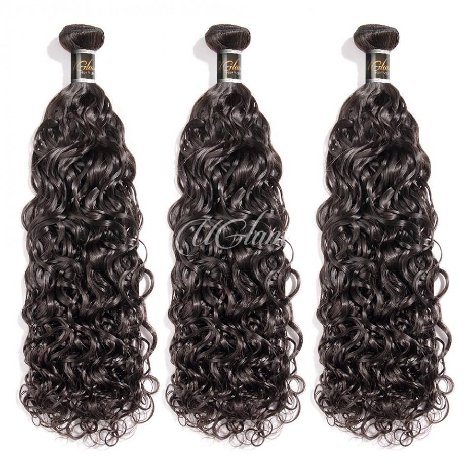 Uglam Hair Peruvian Water Wave 3pcs/4pcs Bundles Deal