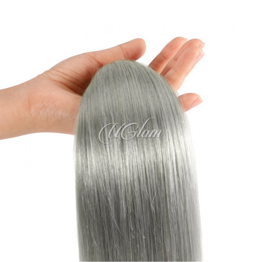 Uglam Hair Green Gray Color Straight Bundles Deal