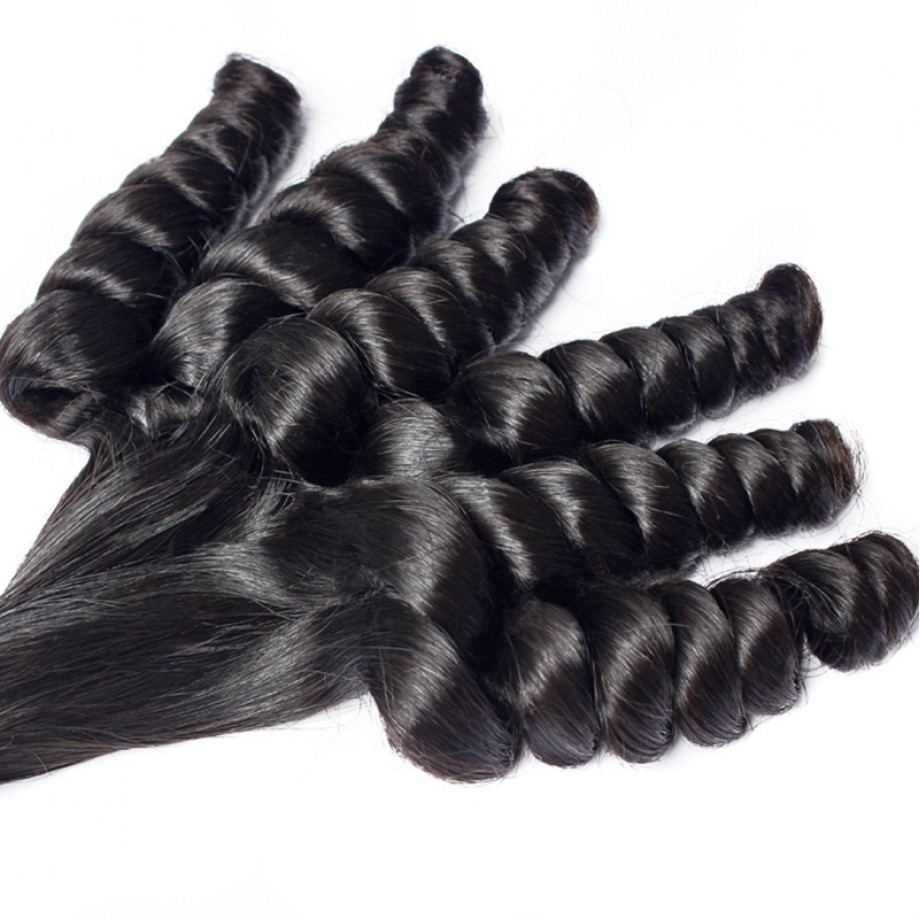Uglam Double Drawn Virgin Loose Fumi Human Hair Bundles
