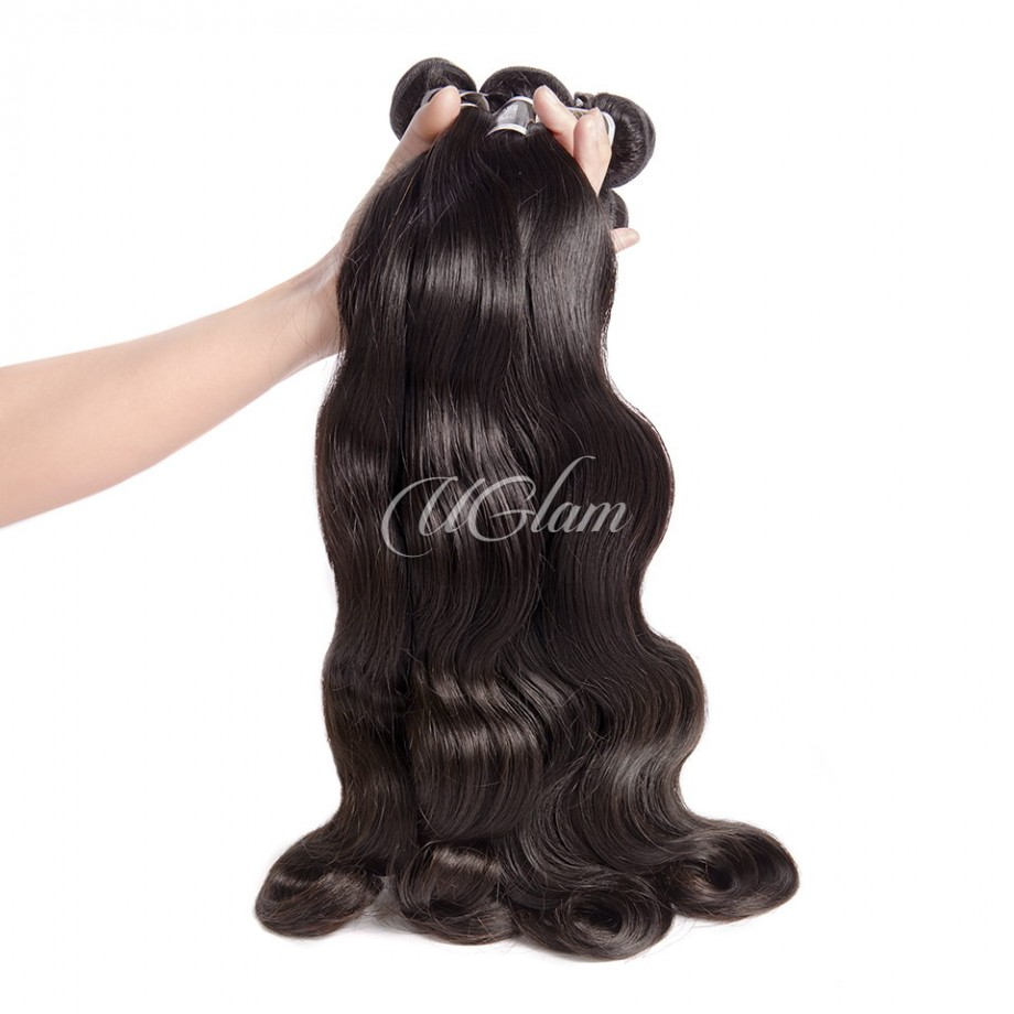 Uglam Hair 360 Lace Front Closure With Bundles Peruvian Body Wave Sexy Formula