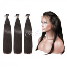 Uglam Hair 360 Lace Front Closure With Bundles Malaysian Straight Sexy Formula
