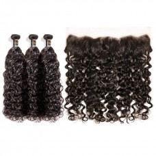 Uglam Hair 4x13 Lace Front Closure With Bundles Roman Curl Hair Sexy Formula