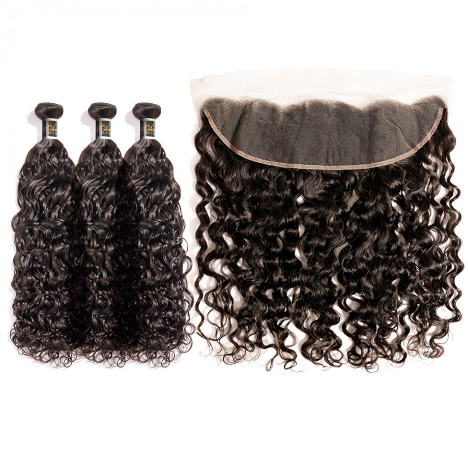 Uglam Hair 13x4 Lace Front Closure With Bundles Roman Curl Hair Sexy Formula