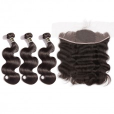 Uglam 13x4 Lace Front Closure With Bundles Indian Body Wave Sexy Formula