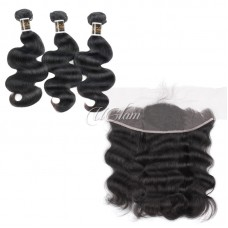 Uglam Hair 13x4 Lace Front Closure With Bundles Malaysian Body Wave Sexy Formula