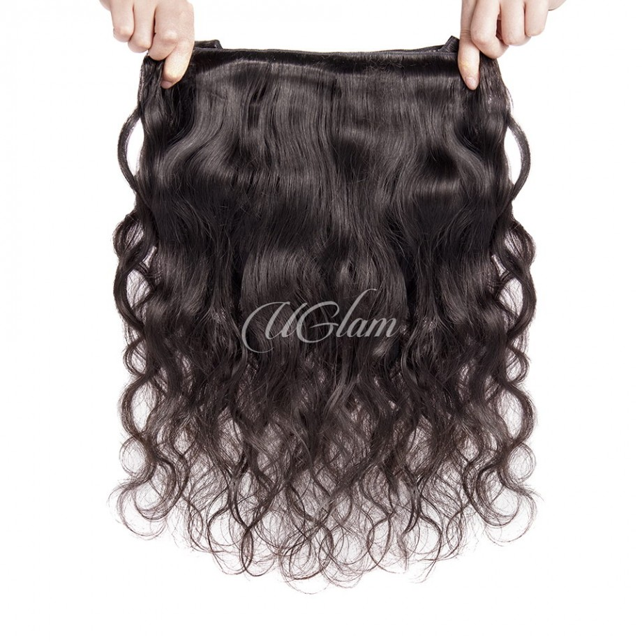 Uglam Hair 4x13 Lace Front Closure With Bundles Peruvian Body Wave Sexy Formula