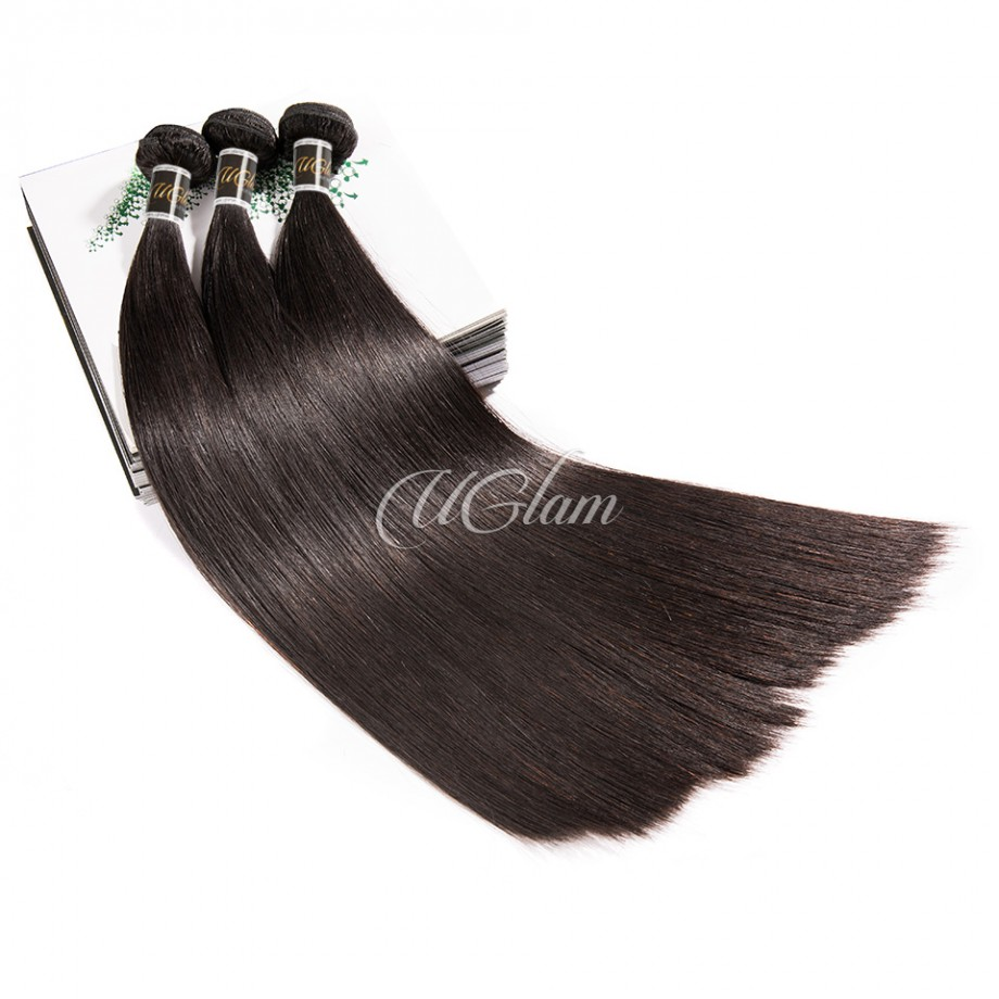 Uglam Hair 4x13 Lace Front Closure With Bundles Brazilian Straight Sexy Formula