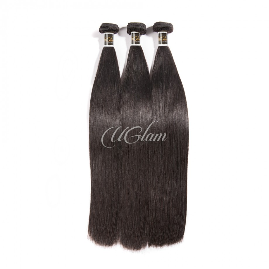 Uglam Hair 13x4 Lace Front Closure With Bundles Indian Straight Sexy Formula
