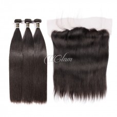 Uglam Hair 13x4 Lace Front Closure With Bundles Malaysian Straight Sexy Formula