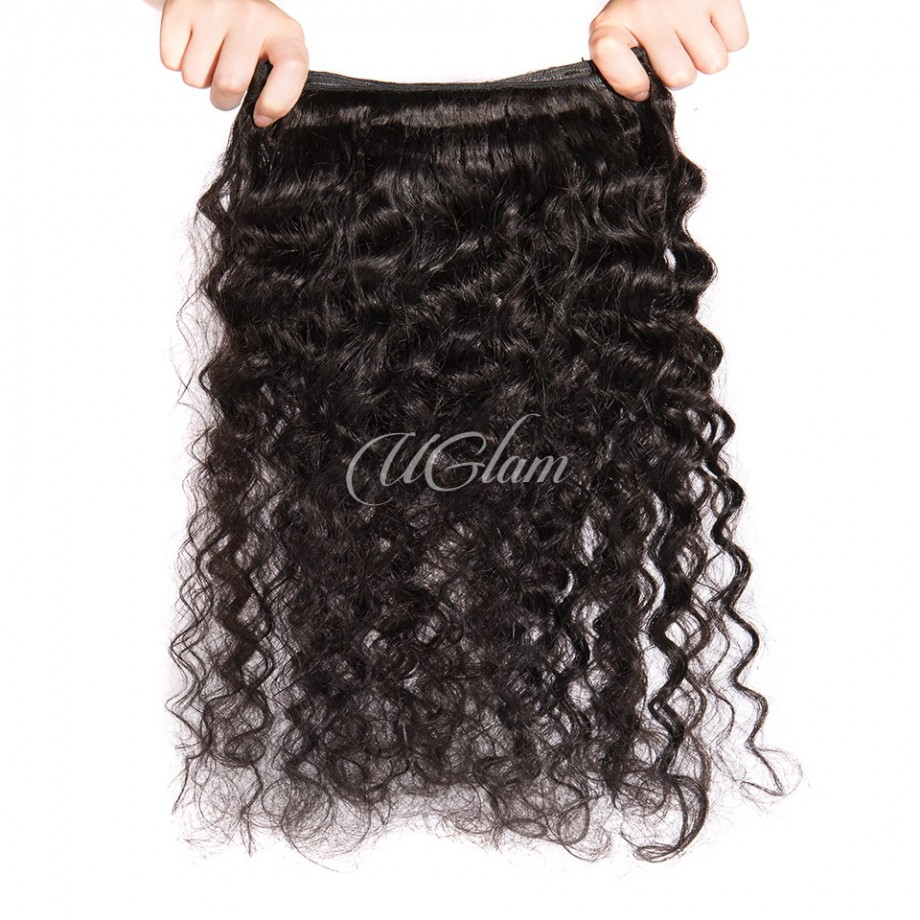 Uglam Bundles With Closure 4x4 Lace Closure Brazilian Loose Deep