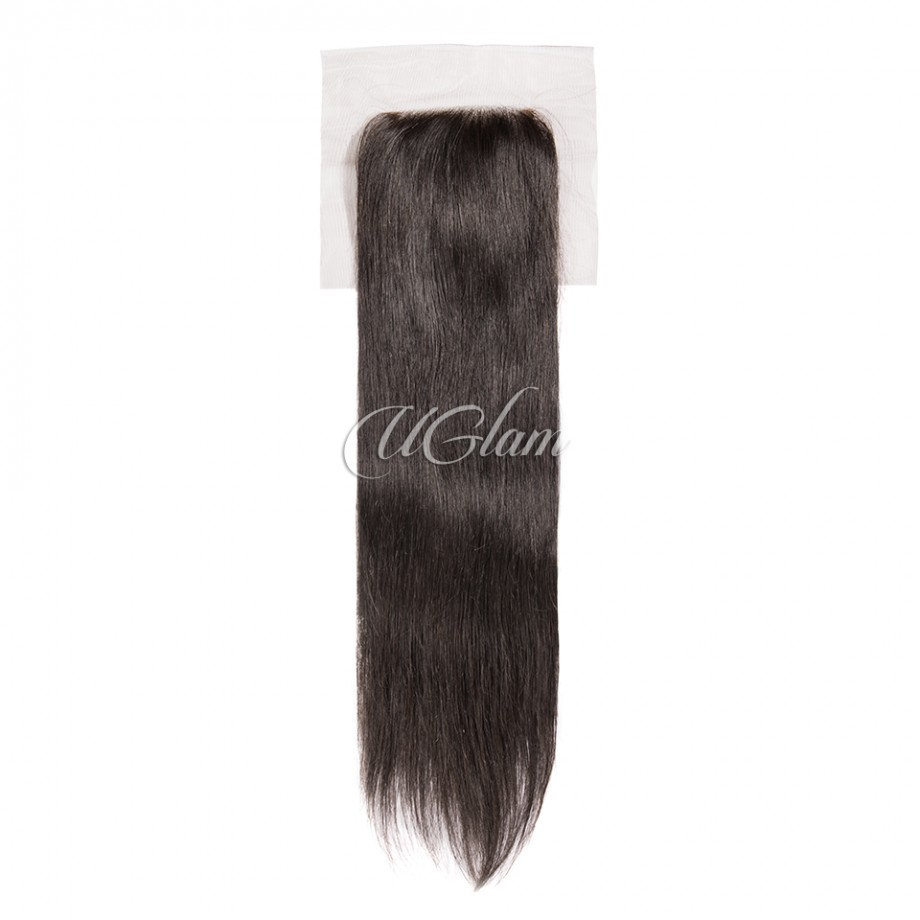 Uglam Hair 4x4 Lace Closure With Bundles Indian Straight Sexy Formula