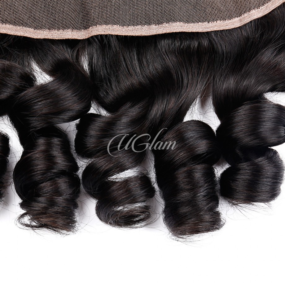 Uglam Hair 13x4 Lace Front Closure Indian Loose Wave Sexy Formula