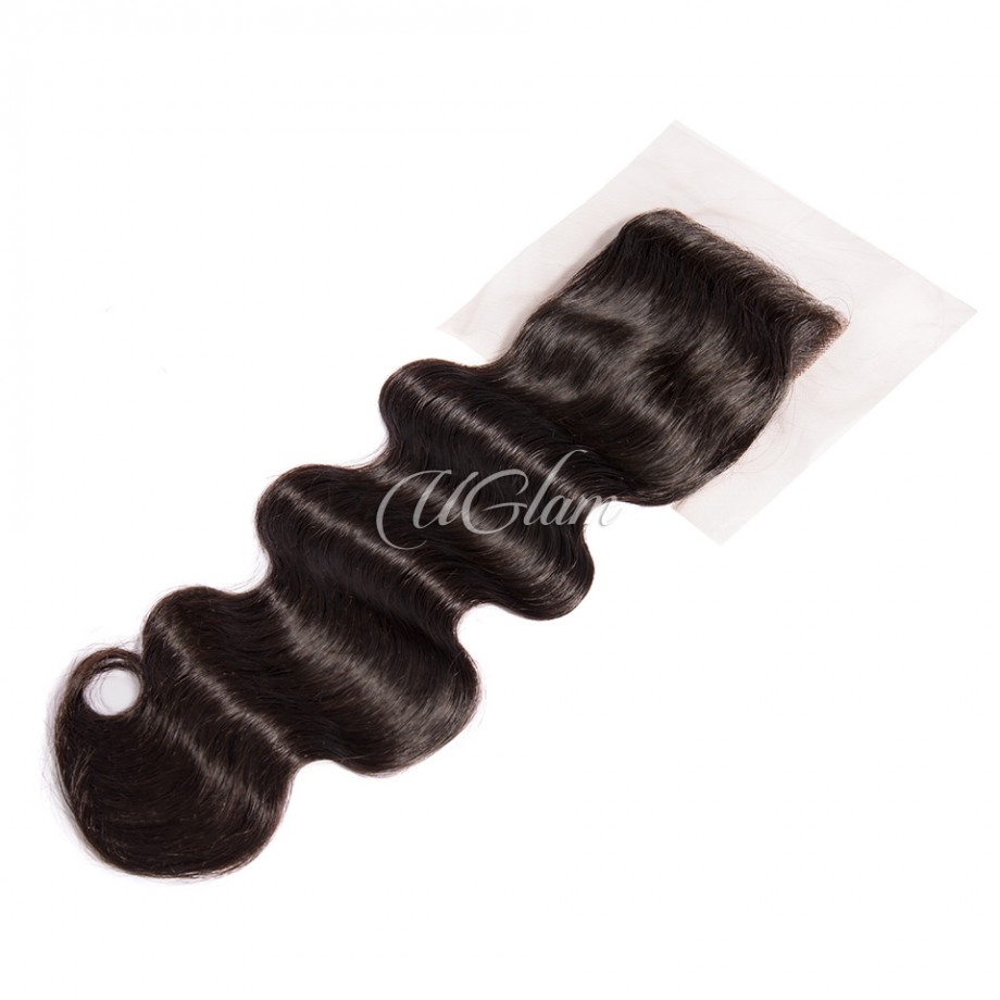 Uglam Hair 4x4 Lace Closure Brazilian Body Wave Sexy Formula