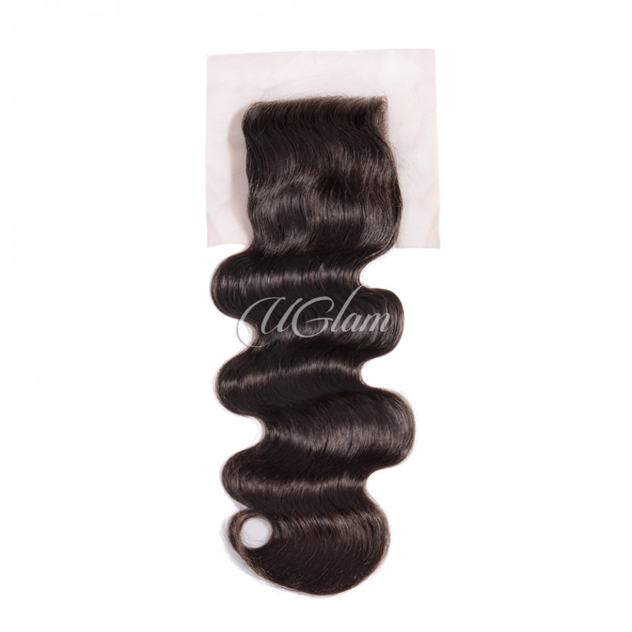 Uglam Hair 4x4 Lace Closure Malaysian Body Wave Sexy Formula