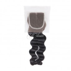 Uglam Hair 4x4 Lace Closure Indian Loose Wave Sexy Formula
