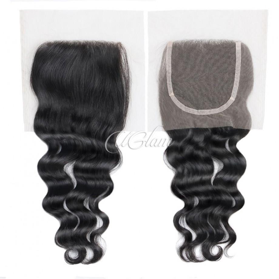 Uglam Hair 4x4 Lace Closure Malaysian Nature Wave Sexy Formula