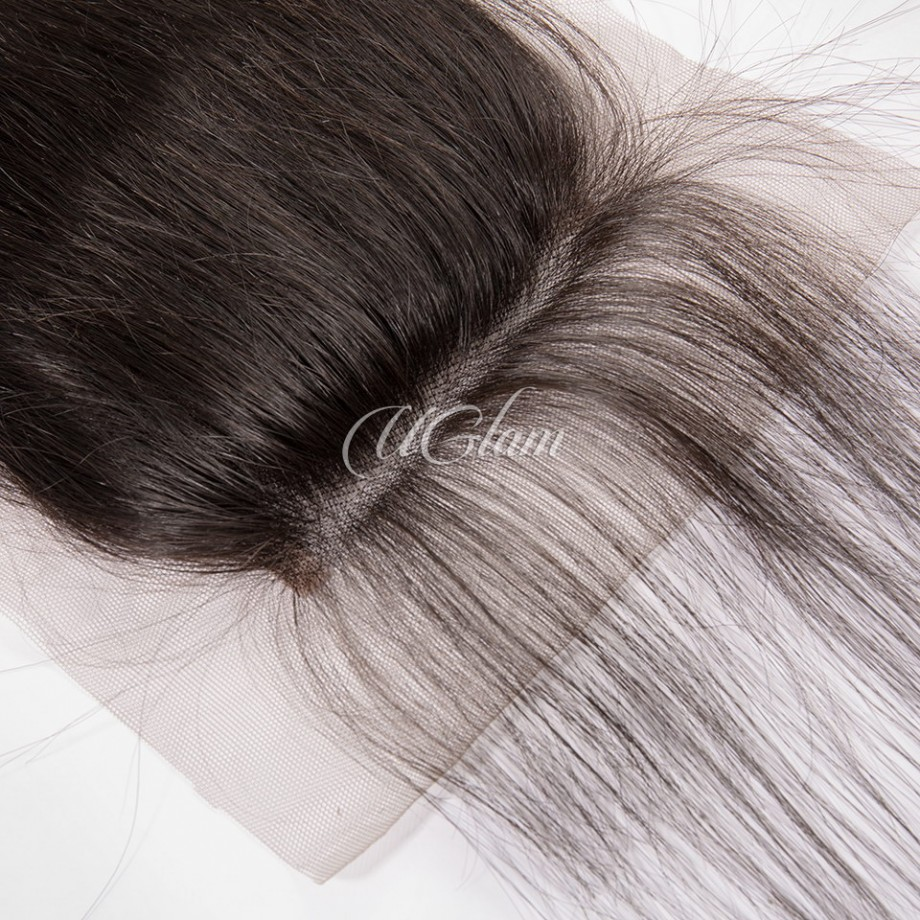 Uglam Hair 4x4 Lace Closure Indian Straight Sexy Formula